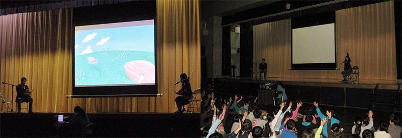 2013年12月には世田谷区内の小学校をはじめ、2校で朗読会をさせていただきました。